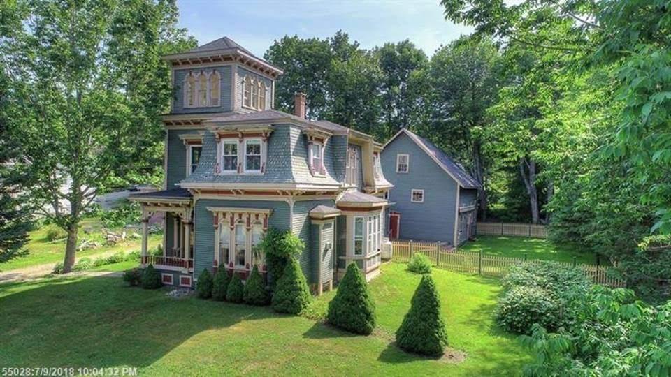 1875 Arthur Willey House In Cherryfield Maine