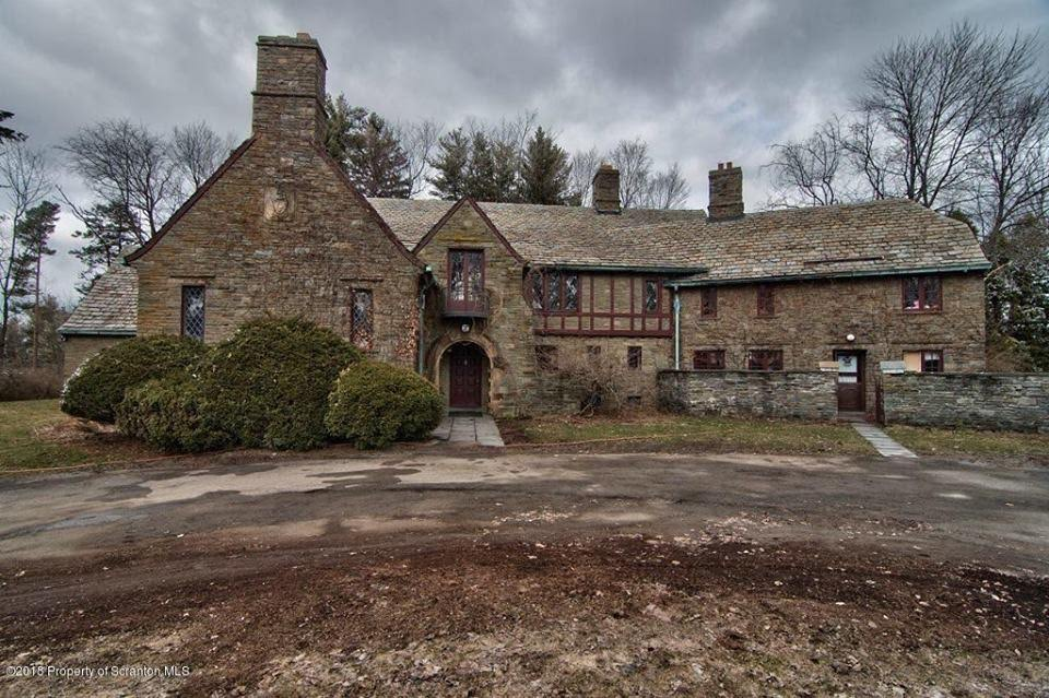 1927 Stone Mansion In South Abington Township Pennsylvania