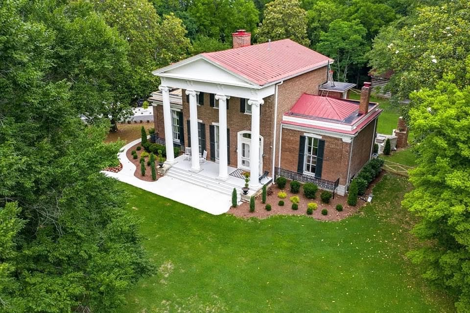 1853 Greek Revival For Sale In Columbia Tennessee