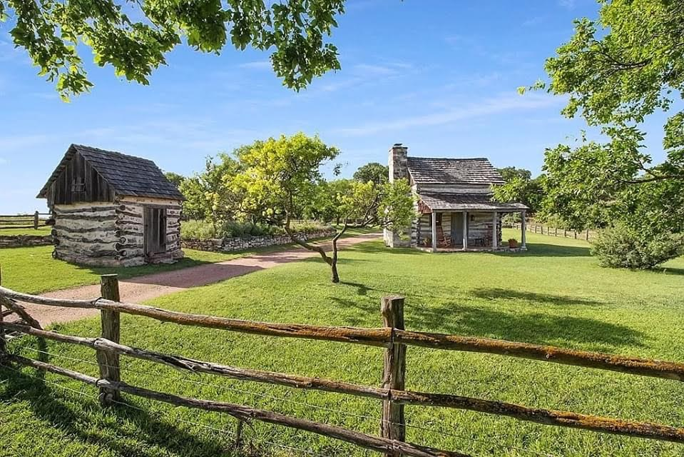 1875 Cabin On 24 Acres For Sale In Fredericksburg Texas