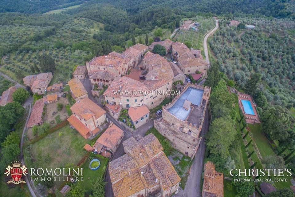12th Century Italian Castle For Sale In Tuscany Italy