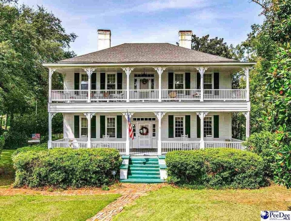1796 Antebellum For Sale In Bennettsville South Carolina