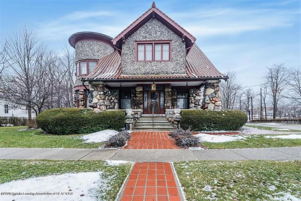 1918 Stone House For Sale In Eaton Rapids Michigan