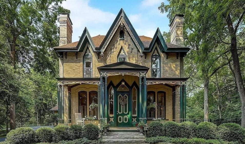 1870 Gothic Revival For Sale In Delafield Wisconsin — Captivating Houses