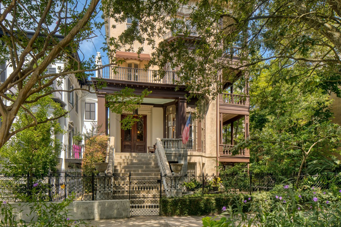 1874 Italianate For Sale In Savannah Georgia